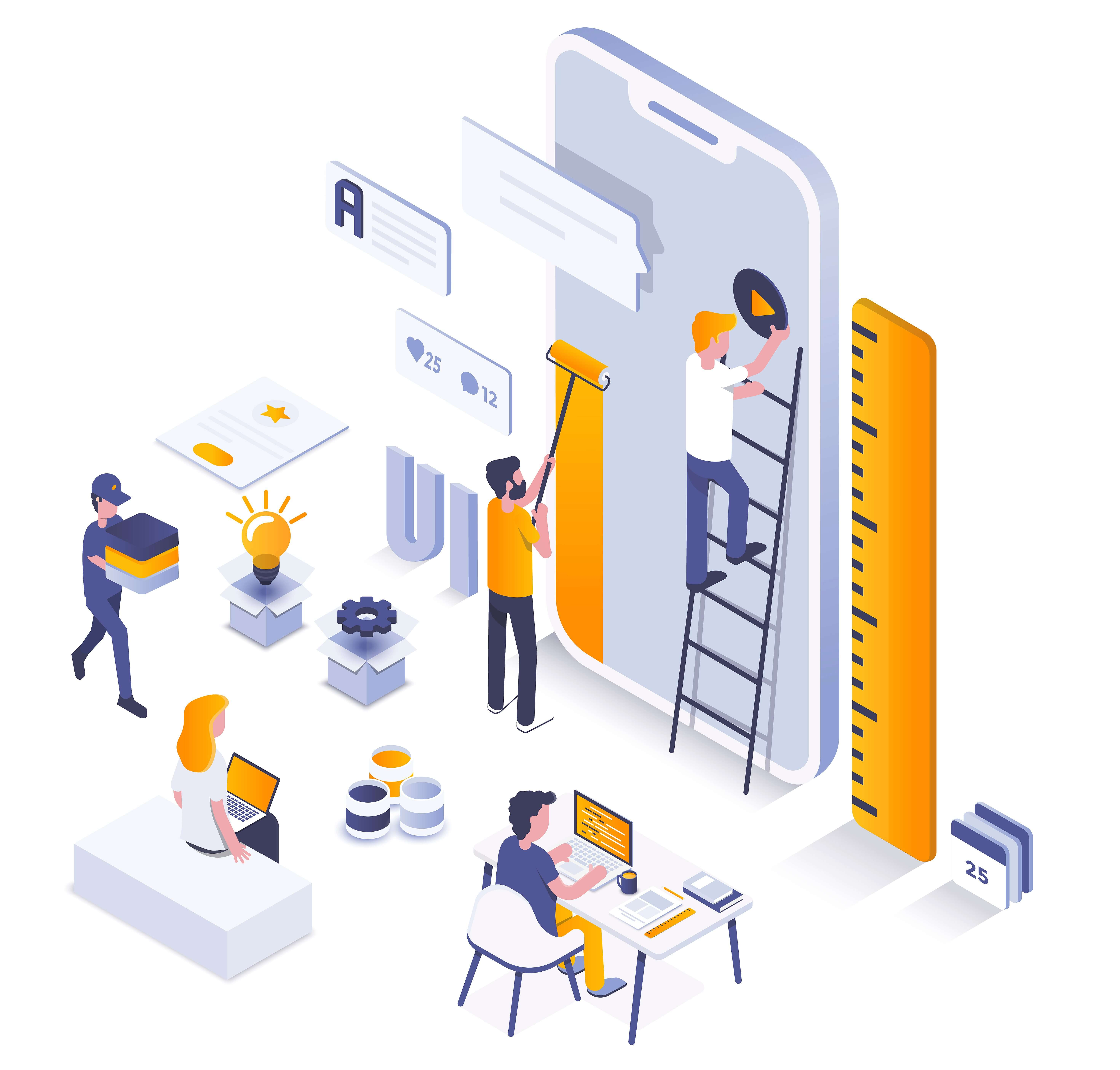Mobile App development illustration