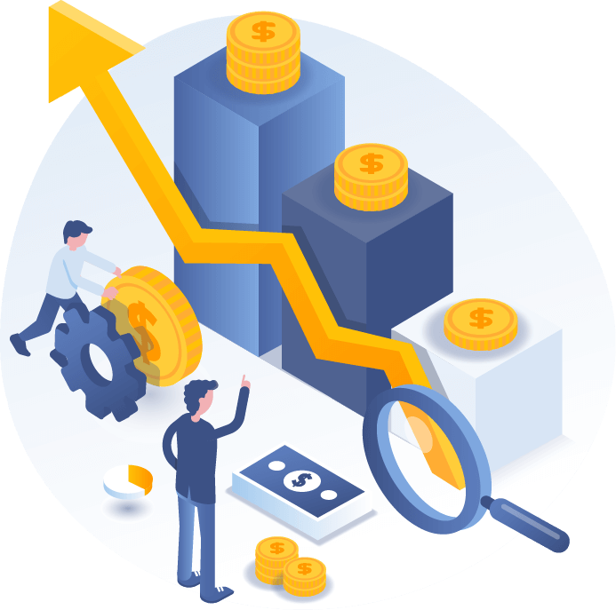 ROI and sales illustration