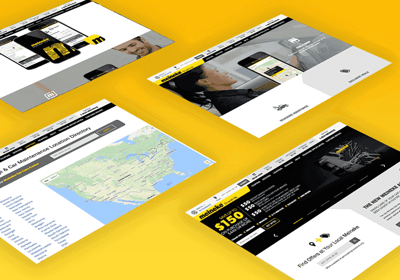 meineke site developed by xivic