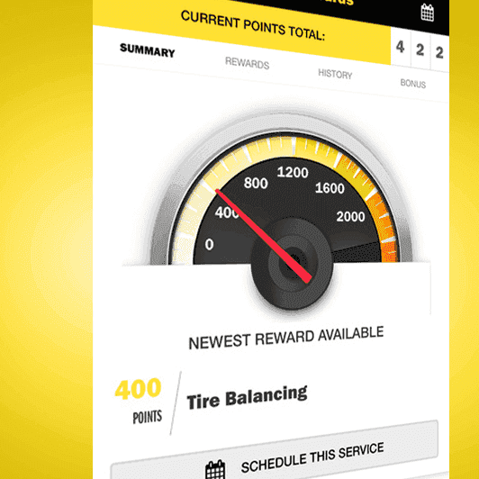 meineke rewards closeup