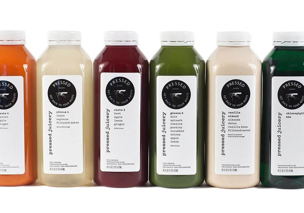 pressed juicery bottles